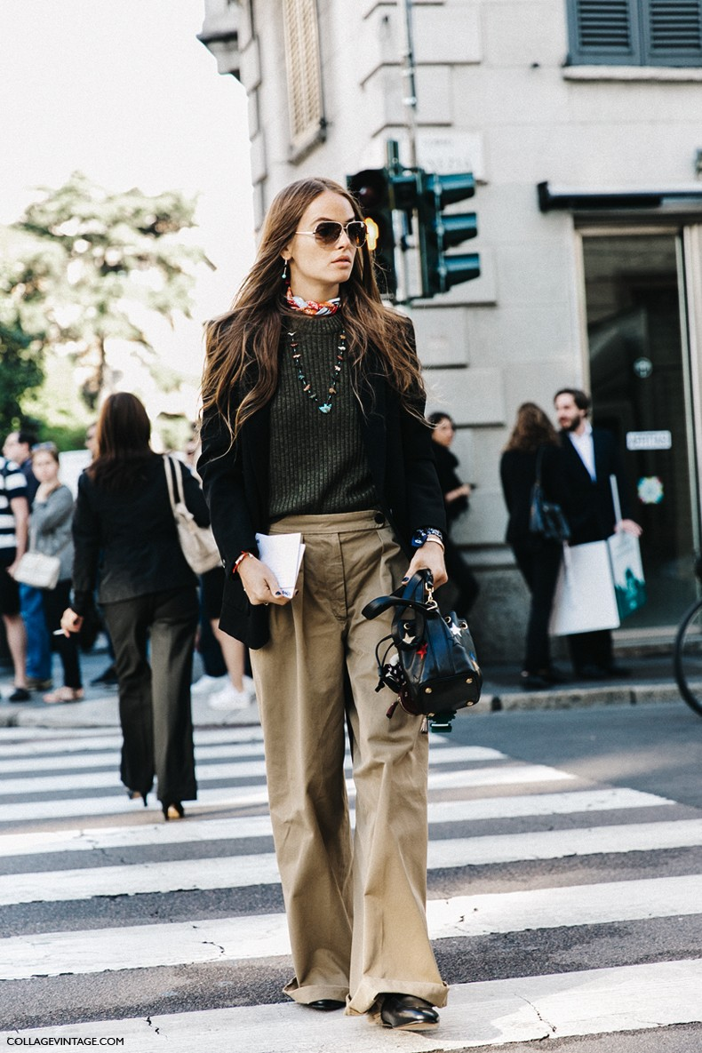 MFW-Milan_Fashion_Week-Spring_Summer_2016-Street_Style-Say_Cheese-Carlotta_Oddi-Gucci_Loafers-Khaki-2