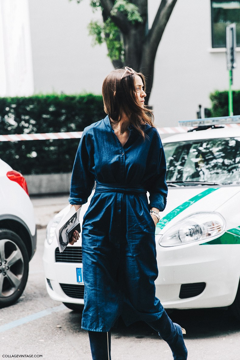 MFW-Milan_Fashion_Week-Spring_Summer_2016-Street_Style-Say_Cheese-Denim_Dress-