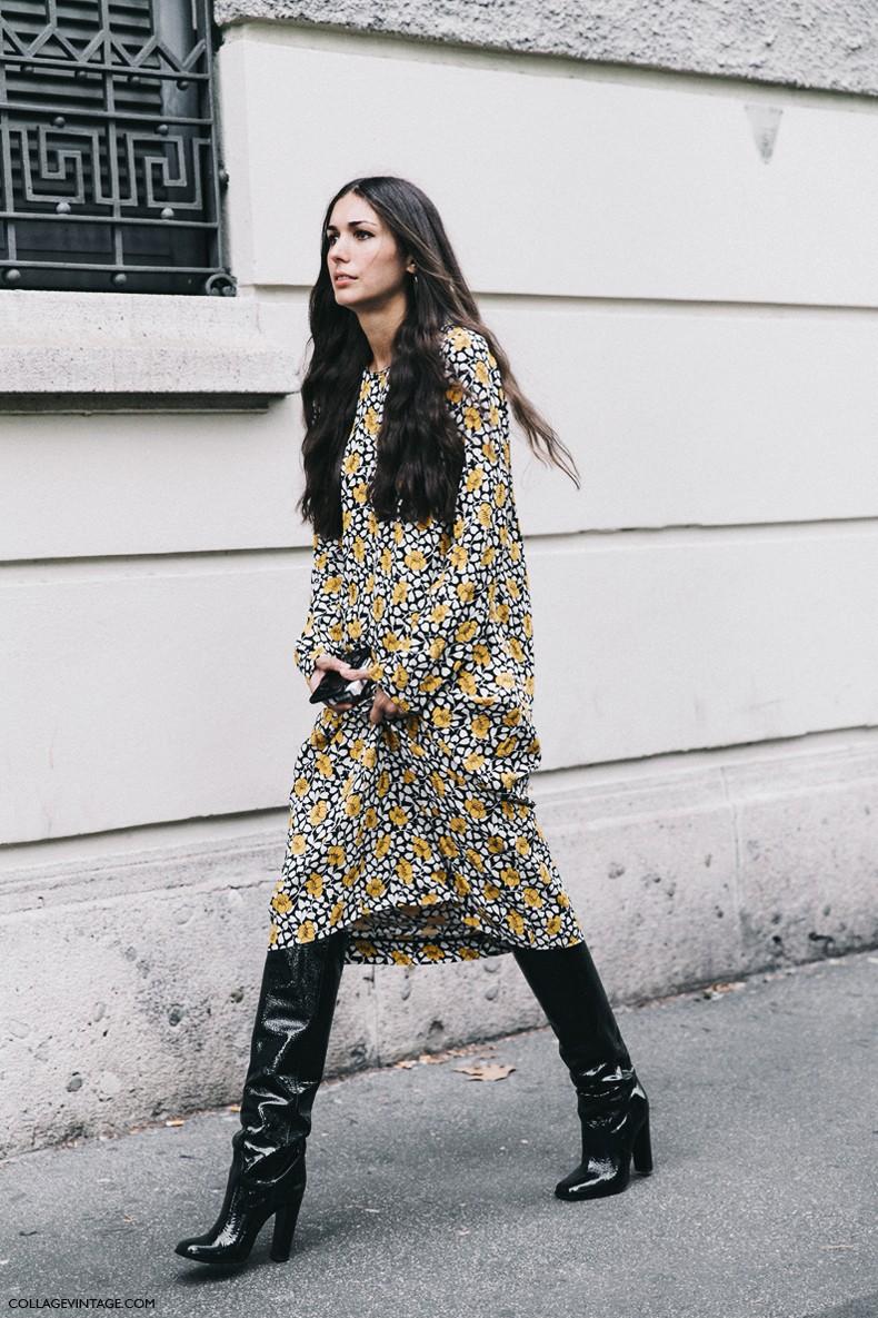 Milan Fashion Week Street Style 4 Collage Vintage