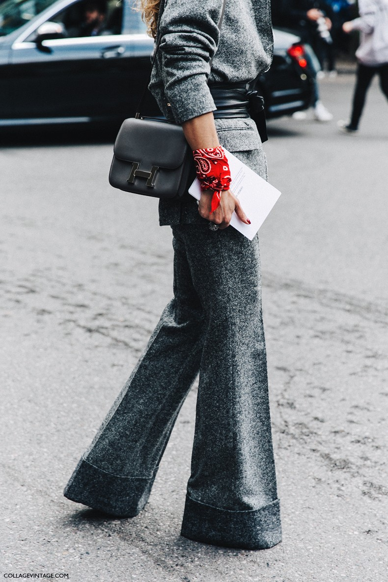 MFW-Milan_Fashion_Week-Spring_Summer_2016-Street_Style-Say_Cheese-Grey_Suite-Bandana-Hermes_Bag-
