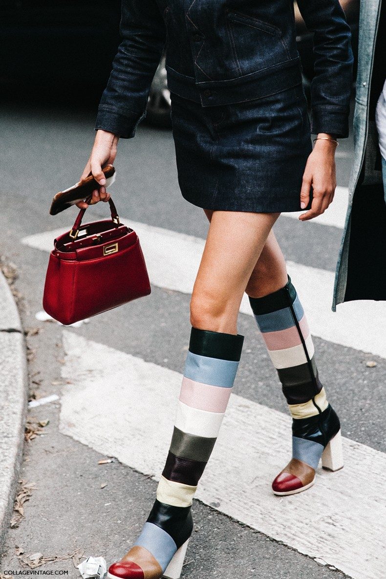 MFW-Milan_Fashion_Week-Spring_Summer_2016-Street_Style-Say_Cheese-Julia_Gall-Valentino_Striped_Boots-Denim_Dress-