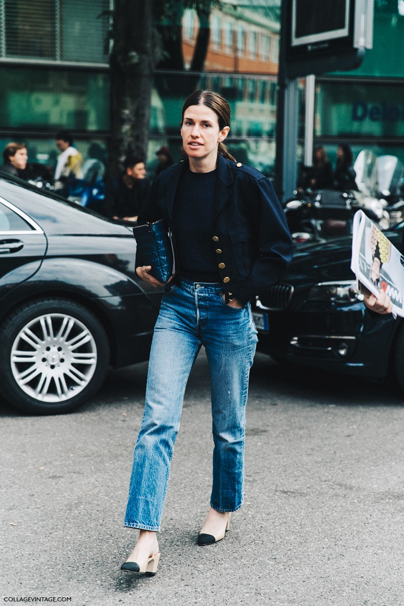 MFW-Milan_Fashion_Week-Spring_Summer_2016-Street_Style-Say_Cheese-Levis-Military_Inspired-Chanel_Shoes-