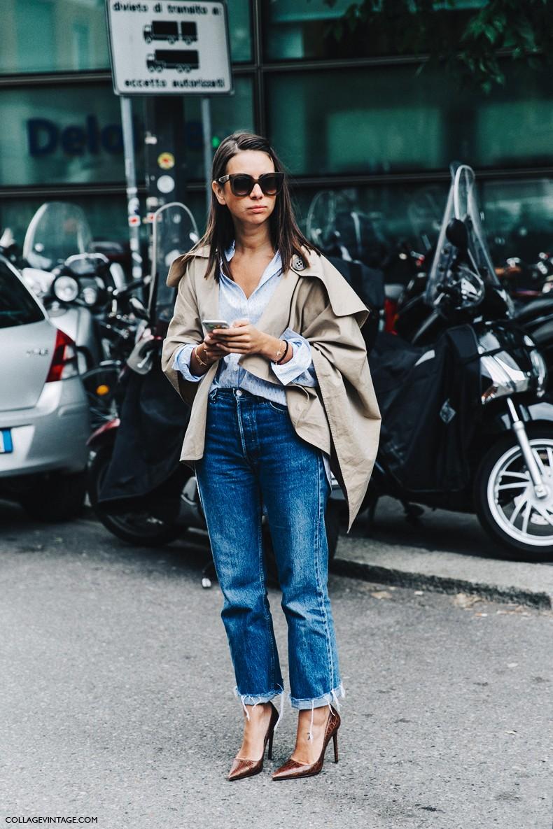 MFW-Milan_Fashion_Week-Spring_Summer_2016-Street_Style-Say_Cheese-Natasha_Goldenberg-Trench_Coat-Blue_Shirt-1