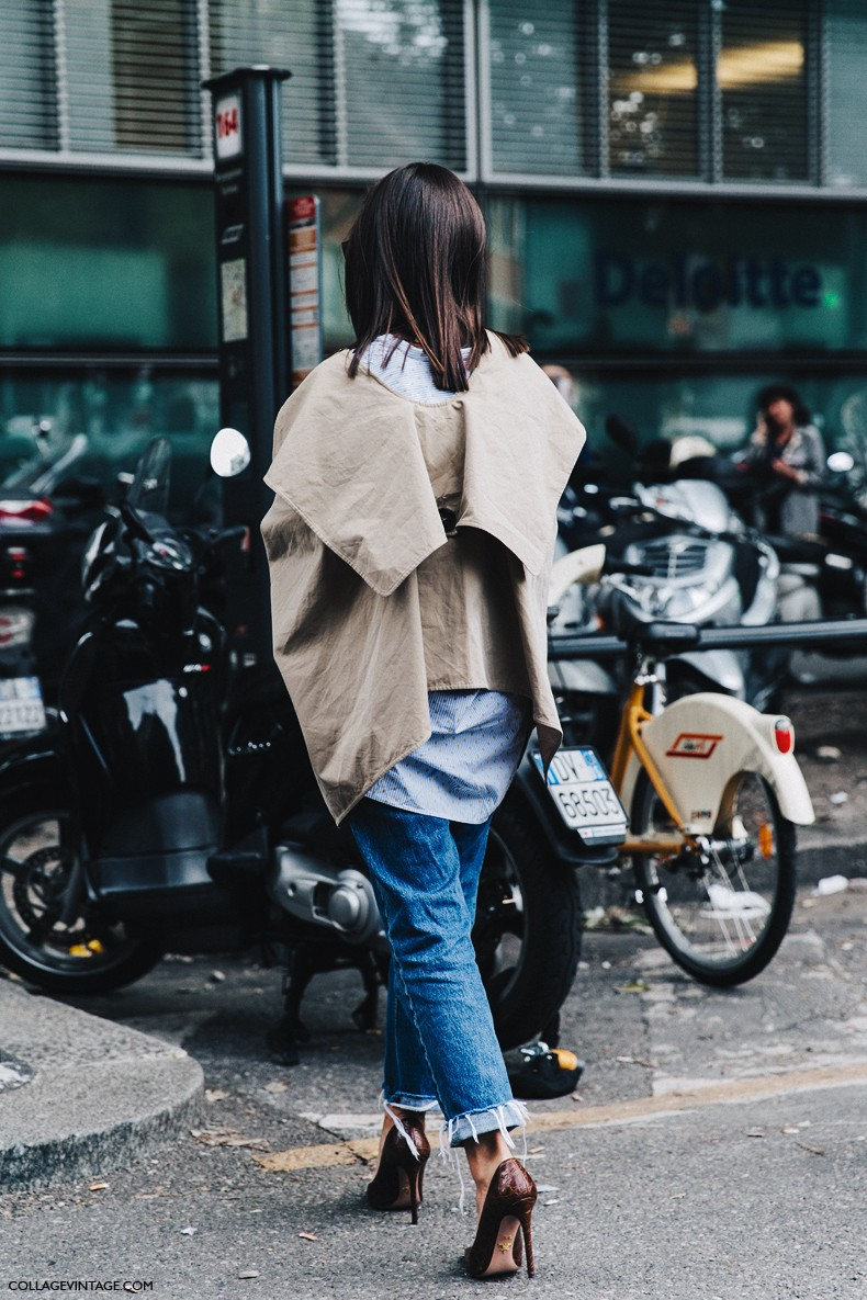 MFW-Milan_Fashion_Week-Spring_Summer_2016-Street_Style-Say_Cheese-Natasha_Goldenberg-Trench_Coat-Blue_Shirt-9