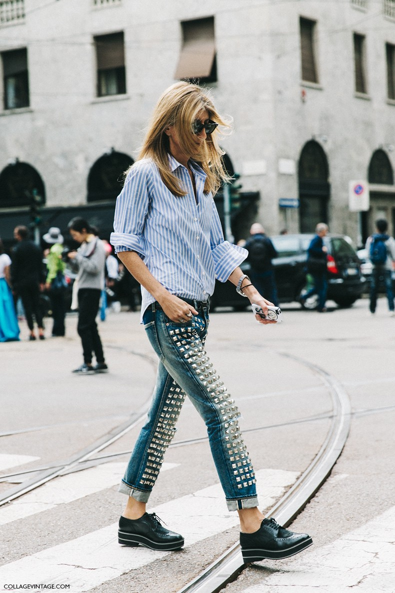 MFW-Milan_Fashion_Week-Spring_Summer_2016-Street_Style-Say_Cheese-Sarah_Ruston-Denim-Oxfords-Striped_Shirt-1