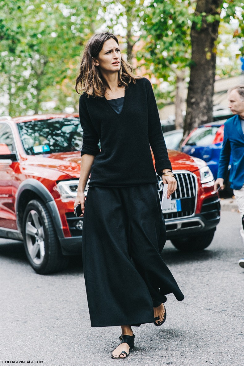 MFW-Milan_Fashion_Week-Spring_Summer_2016-Street_Style-Say_Cheese-Total_Black-Maxi-Skirt-