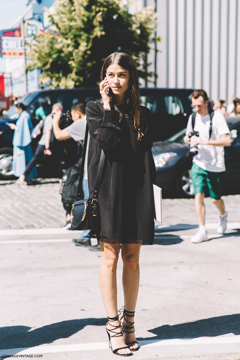 New York Fashion Week Street Style 5 Collage Vintage