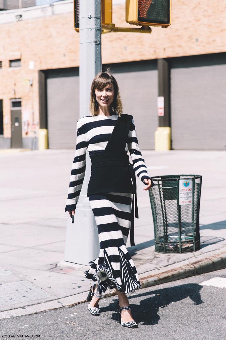 New_York_Fashion_Week-Spring_Summer-2016--Street-Style-Anya_Ziourova-Valentino-Stripes-