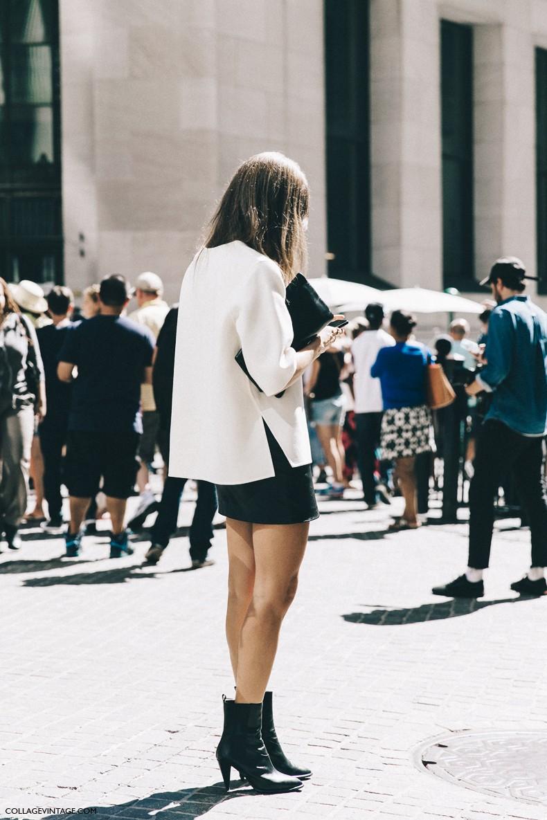 New_York_Fashion_Week-Spring_Summer-2016-Street-Style-Jessica_Minkoff-Diesel_Black_And_Gold-Giorgia_Tordini-Mini_Skirt-