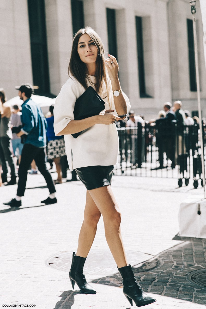 New_York_Fashion_Week-Spring_Summer-2016-Street-Style-Jessica_Minkoff-Diesel_Black_And_Gold-Giorgia_Tordini-Mini_Skirt-3