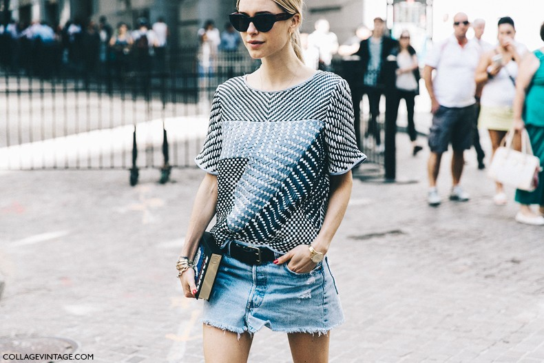 New_York_Fashion_Week-Spring_Summer-2016-Street-Style-Jessica_Minkoff-Diesel_Black_And_Gold-Look_De_Pernille-Denim_Mini_Skirt-2