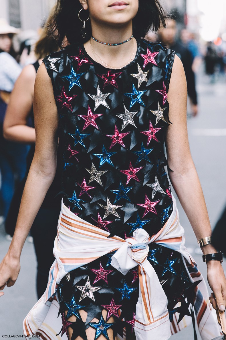 New_York_Fashion_Week-Spring_Summer-2016--Street-Style-Leandra_Medine-Stars_Dress-Chanel_Shoes-Louis_Vuitton_Bag-1