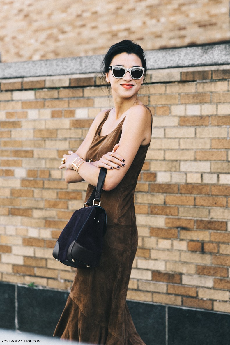 New_York_Fashion_Week-Spring_Summer-2016-Street-Style-Lily_kwong-Suede_Dress-Polo_Ralph_Lauren-1