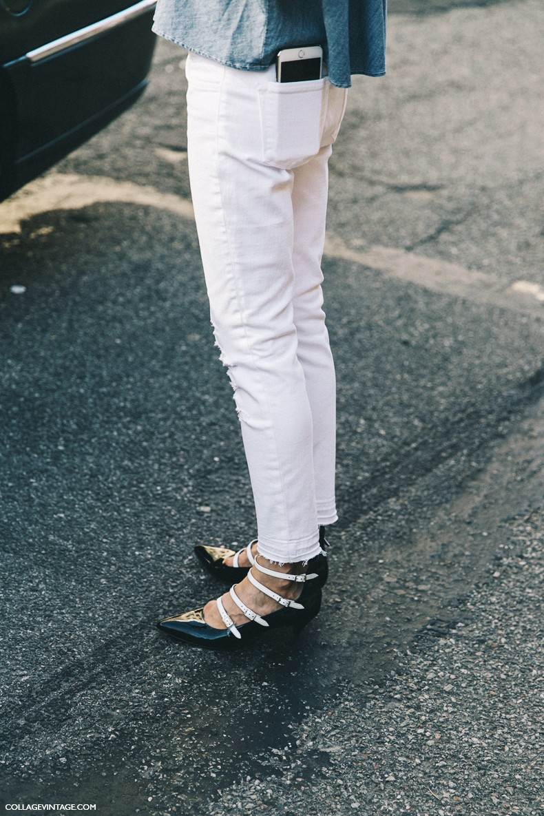 New_York_Fashion_Week-Spring_Summer-2016-Street-Style-Ralph_Lauren-Jessica_minkoff-Off_The_Shoulders-Denim-White_jeans-