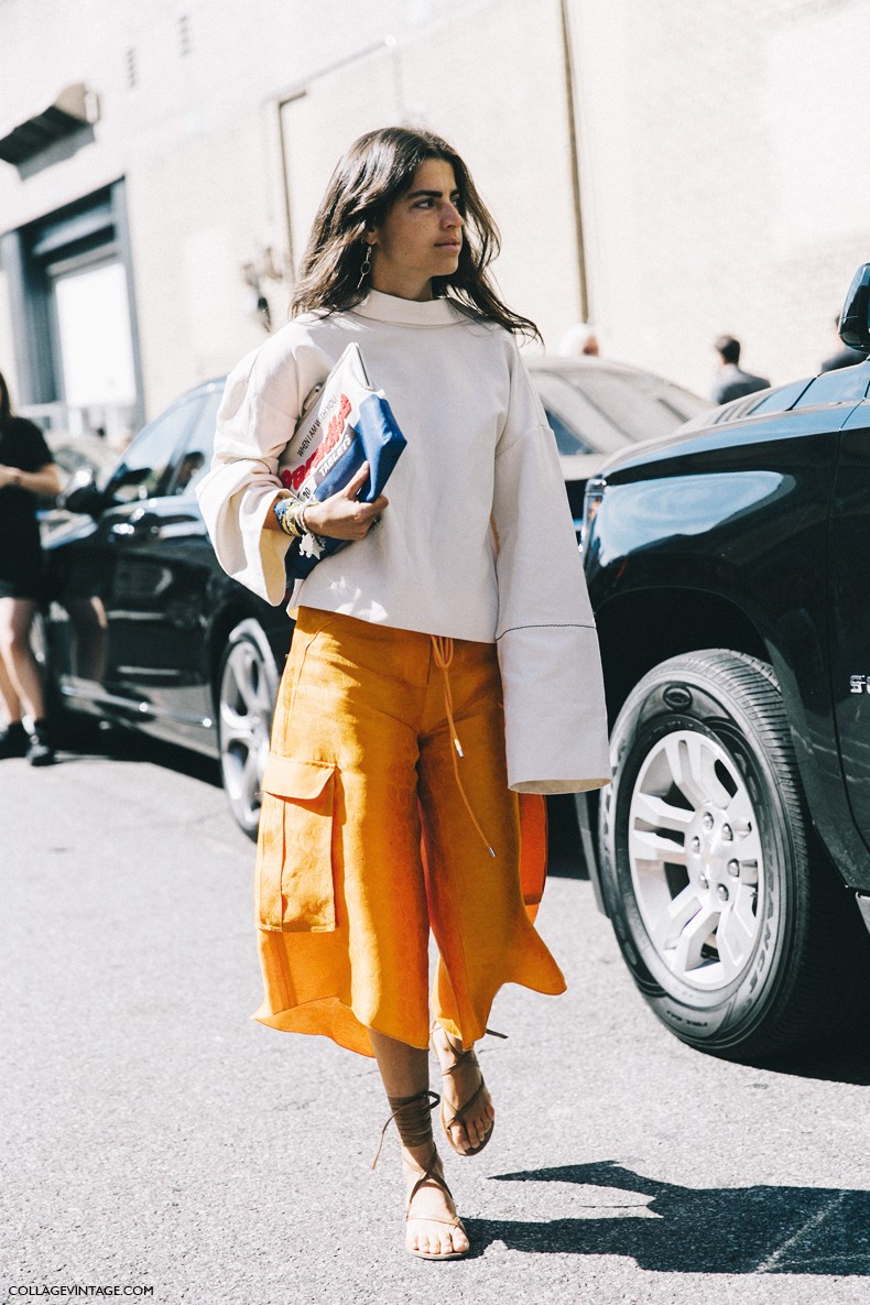 New_York_Fashion_Week-Spring_Summer-2016-Street-Style-Ralph_Lauren-Leandra_Medine-Man_Repeller-Orange_Culottes-Open_Back-9