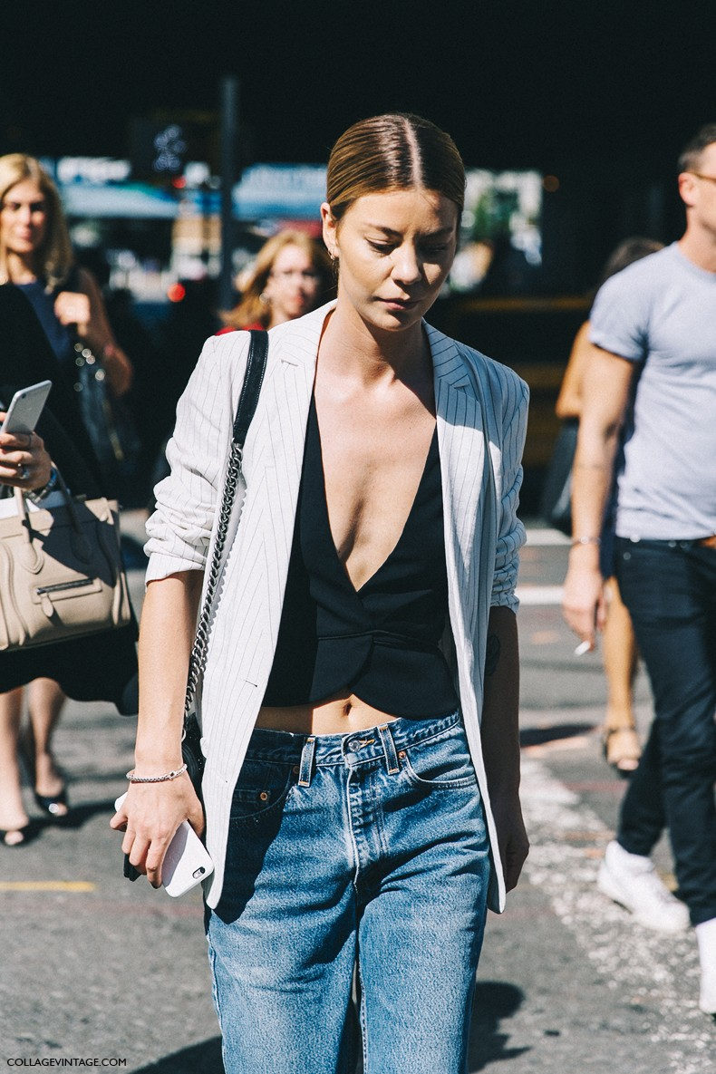 New_York_Fashion_Week-Spring_Summer-2016-Street-Style-Ralph_Lauren-Striped_Blazers-Jeans-Vest-