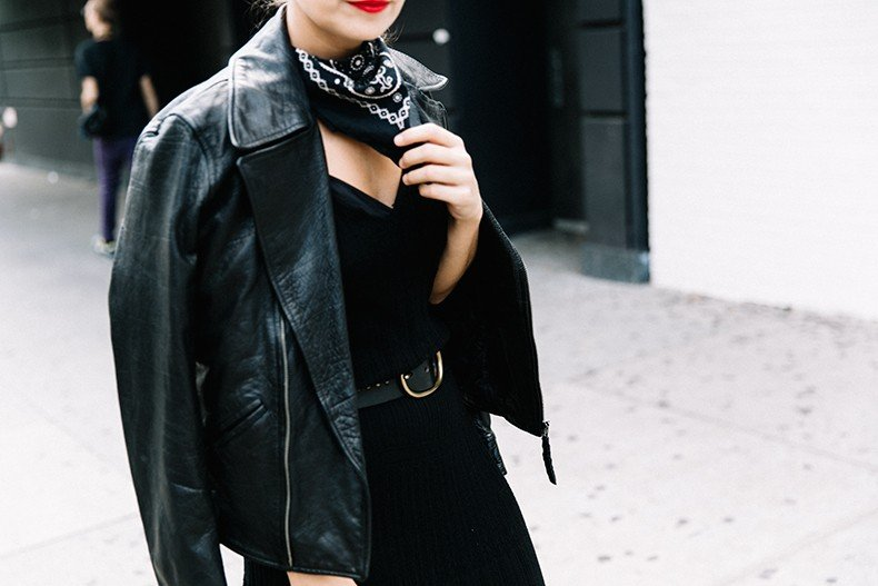 Polo_Ralph_Lauren-NYFW-New_York_Fashion_Week-Total_Black_Look-Mountain_Boots-Leather_Biker_Jacket-Topknot-Street_style-Brand_Ambassador-1