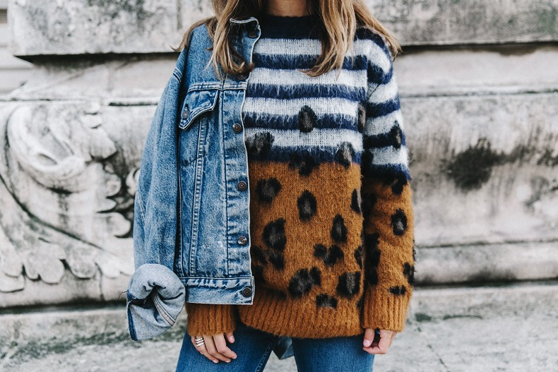 Double_Denim-Sandro_Paris-Leopard_Jumper-Sneakers-Vintage_Levis-Cropped_Trousers-Outfit-Street_Style-28