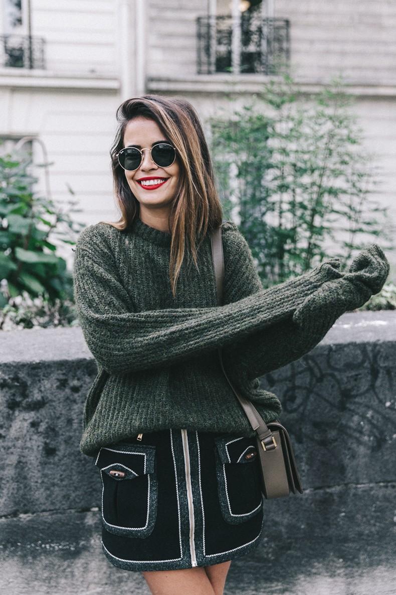 Khaki_Sweater-Zaitegui_Skirt-PFW-Sneakers-Sandro_Paris-Collage_Vintage-Street_Style-15