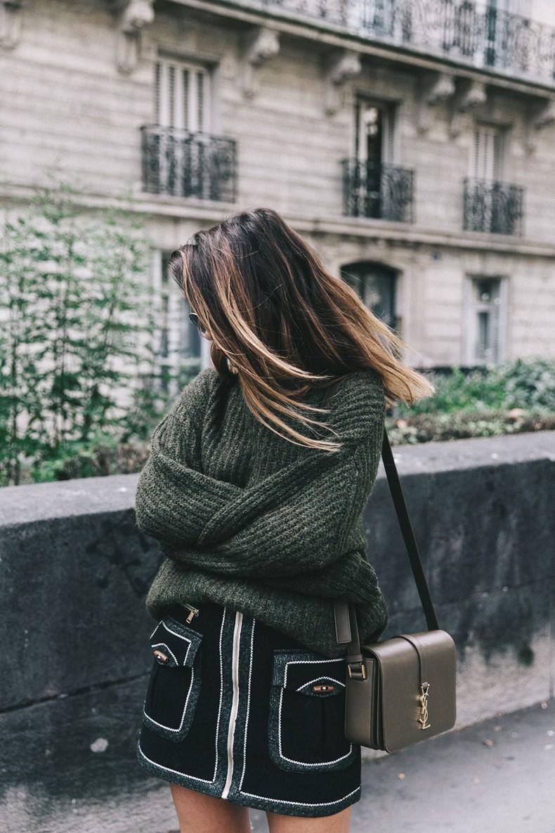 Khaki_Sweater-Zaitegui_Skirt-PFW-Sneakers-Sandro_Paris-Collage_Vintage-Street_Style-19