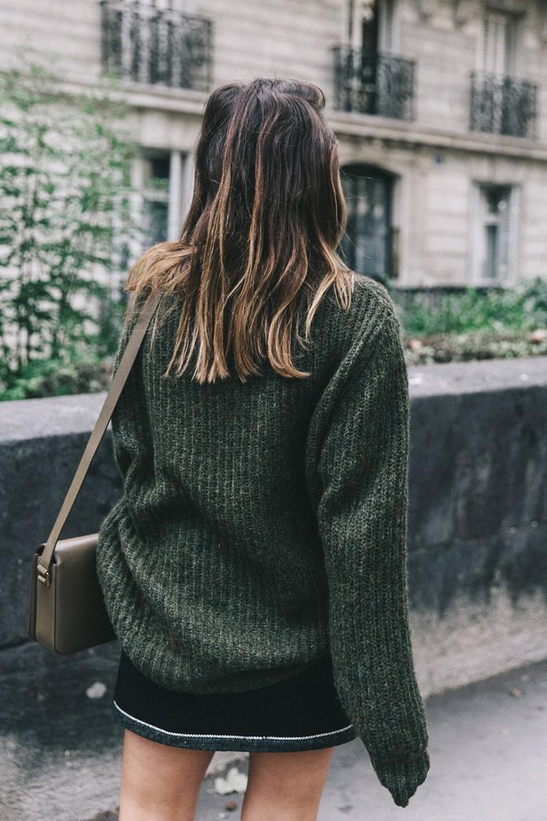 Khaki_Sweater-Zaitegui_Skirt-PFW-Sneakers-Sandro_Paris-Collage_Vintage-Street_Style-29