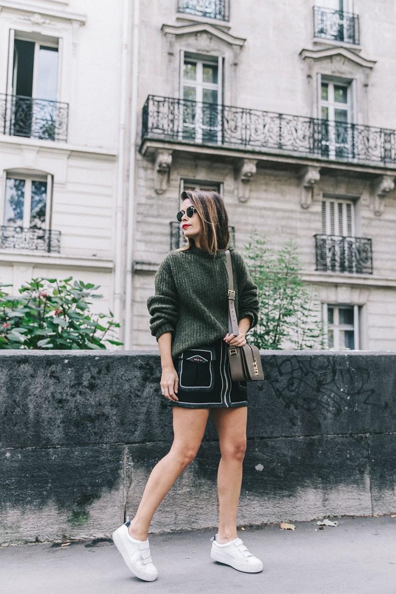 Khaki_Sweater-Zaitegui_Skirt-PFW-Sneakers-Sandro_Paris-Collage_Vintage-Street_Style-7