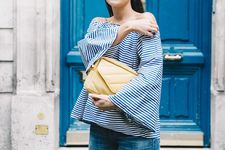 Ldies_in_Levis-Serie_700-Denim-Espadrilles-Off_The_Shoulder_top-Tita_Madrid_Bag-Yellow-Outfit-Paris-711_Skinny_Jeans-35
