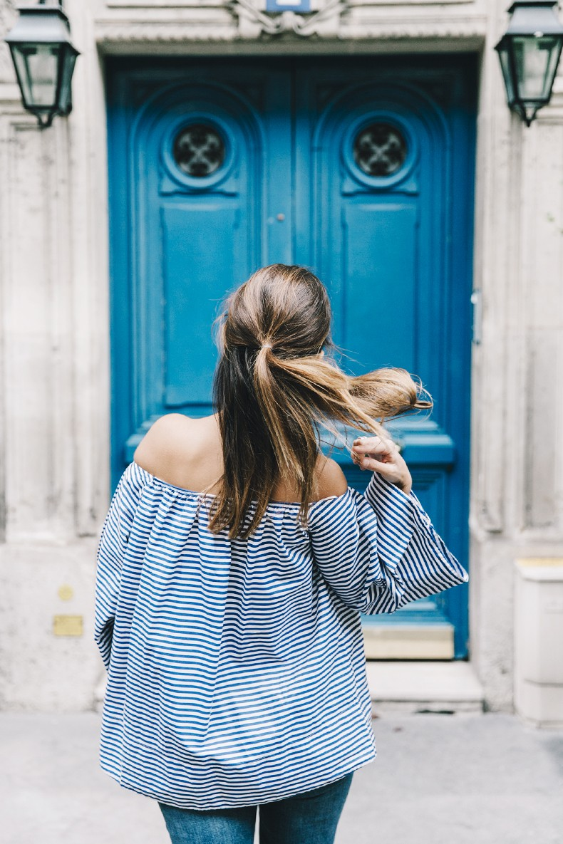 Ldies_in_Levis-Serie_700-Denim-Espadrilles-Off_The_Shoulder_top-Tita_Madrid_Bag-Yellow-Outfit-Paris-711_Skinny_Jeans-7