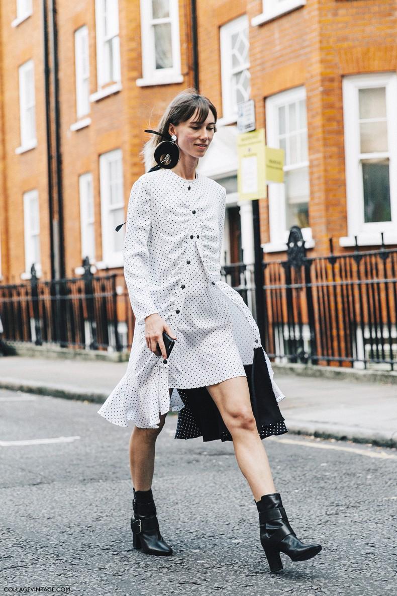 London_Fashion_Week-Spring_Summer_16-LFW-Street_Style-Collage_Vintage-JW_Anderson-Anya_Ziourova-Polka_Dot_Dress-6
