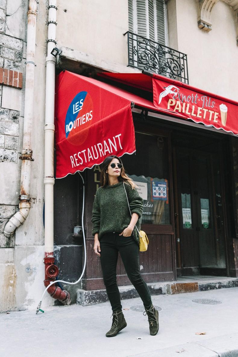 Maje_x_Minnetonka-Suede_Boots-Khaki_Outfit-Vintage_Scarf-Tita_Madrid_Bag-Yellow_Bag-Outfit-Paris-Street_style-Collage_Vintage-13