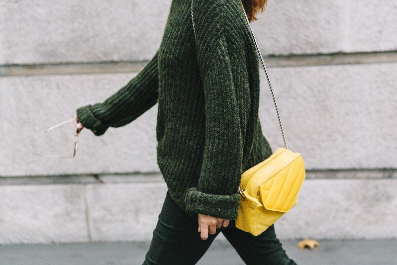Maje_x_Minnetonka-Suede_Boots-Khaki_Outfit-Vintage_Scarf-Tita_Madrid_Bag-Yellow_Bag-Outfit-Paris-Street_style-Collage_Vintage-467