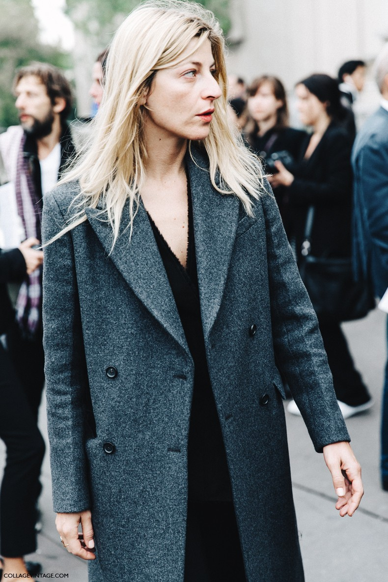 PFW-Paris_Fashion_Week-Spring_Summer_2016-Street_Style-Say_Cheese-Ada_kokosar-GRey_Coat-