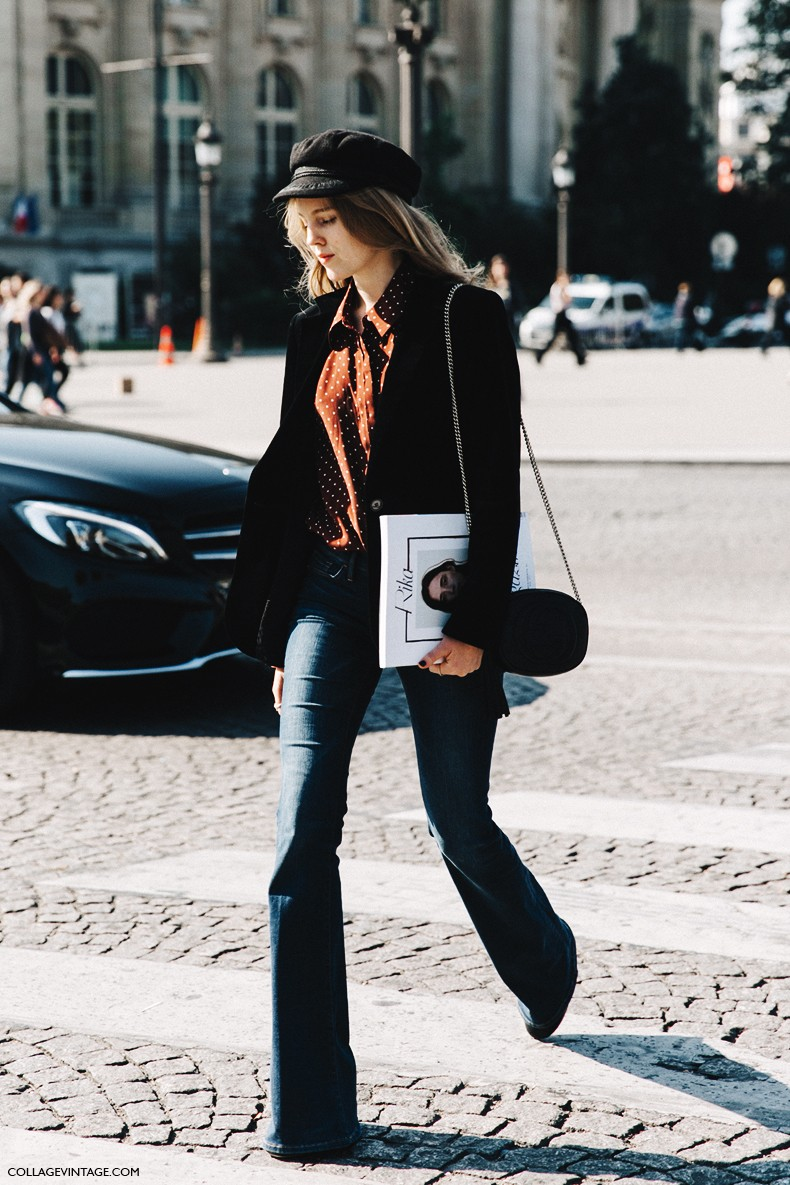 PFW-Paris_Fashion_Week-Spring_Summer_2016-Street_Style-Say_Cheese-Alexandra_Carl-Flared_Jeans-3