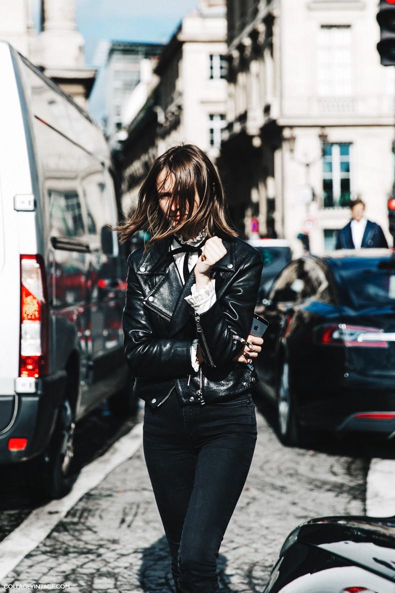 PFW-Paris_Fashion_Week-Spring_Summer_2016-Street_Style-Say_Cheese-Black-Leather_Jacket