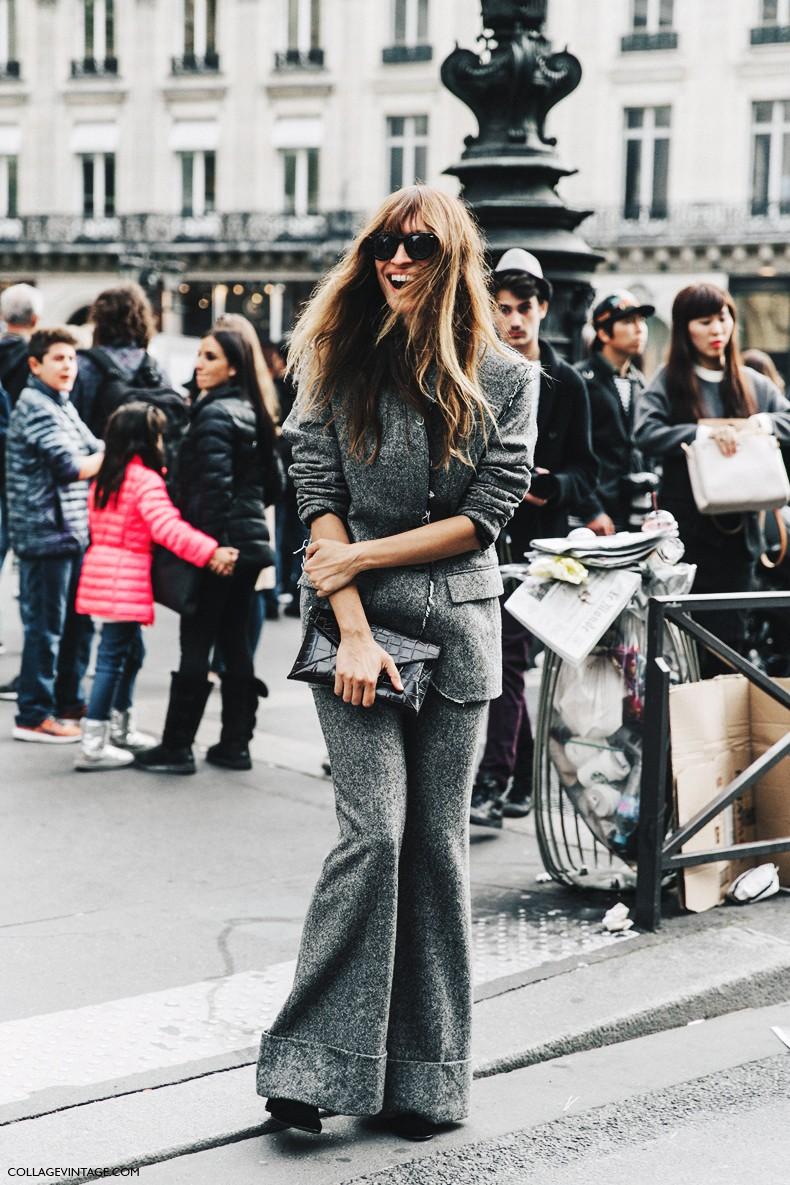 PFW-Paris_Fashion_Week-Spring_Summer_2016-Street_Style-Say_Cheese-Caroline_De_Maigret-Grey_Suit-