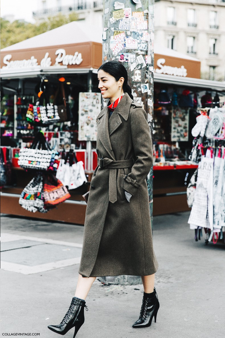 PFW-Paris_Fashion_Week-Spring_Summer_2016-Street_Style-Say_Cheese-Caroline_Issa-Military_Coat-1