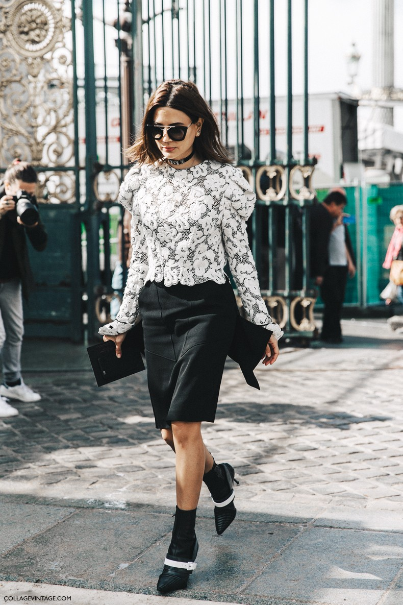 PFW-Paris_Fashion_Week-Spring_Summer_2016-Street_Style-Say_Cheese-Christine_Centenera-Black_And_White-1