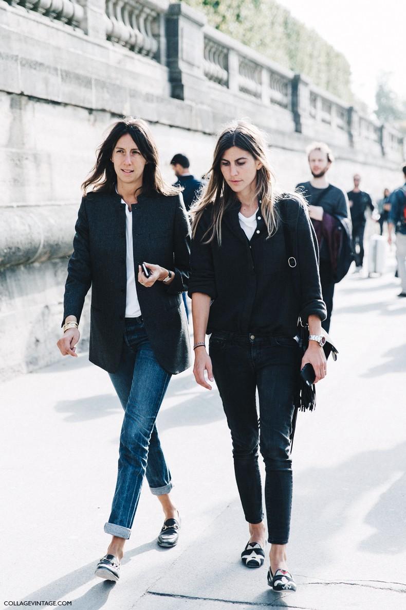 Paris Fashion Week Street Style 1 Collage Vintage