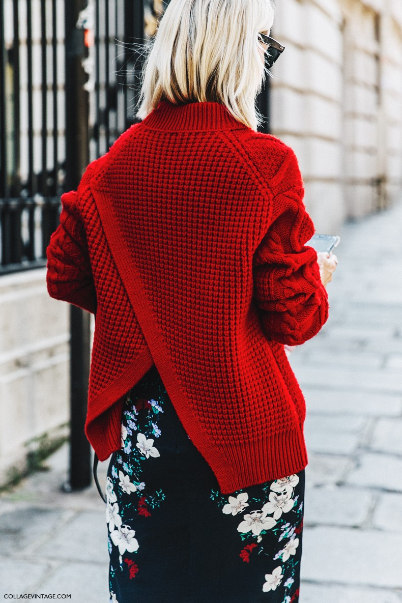 PFW-Paris_Fashion_Week-Spring_Summer_2016-Street_Style-Say_Cheese-Holly_Rogers-Red_Sweater-Pencil_Skirt-1
