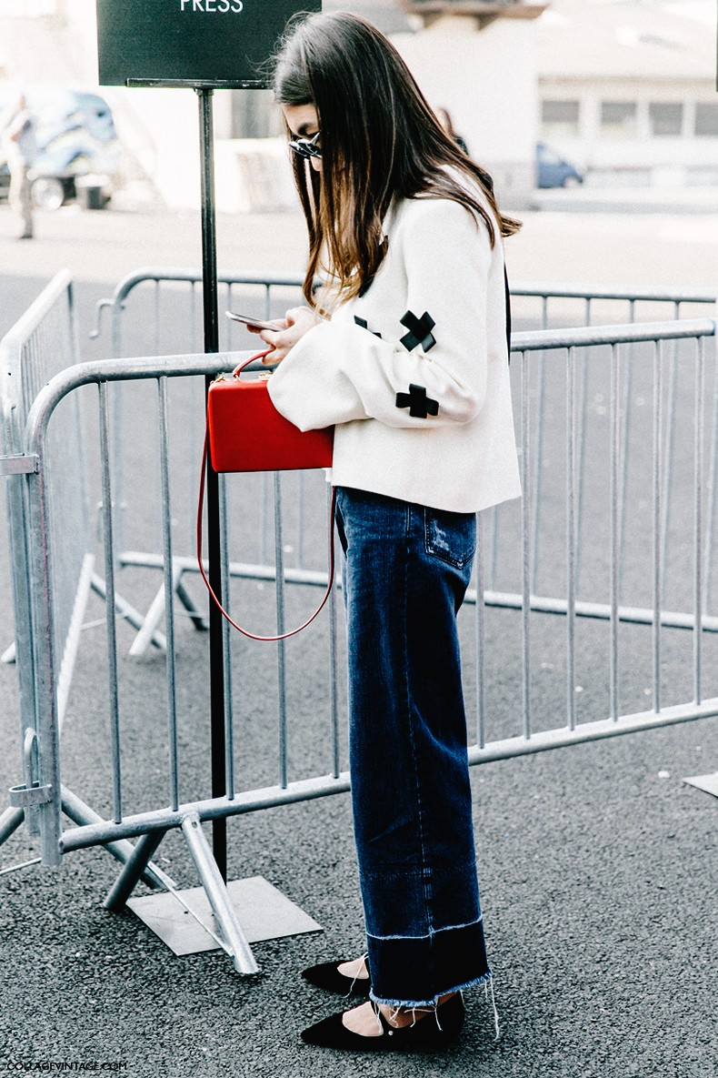 Paris Fashion Week Street Style 5 Collage Vintage