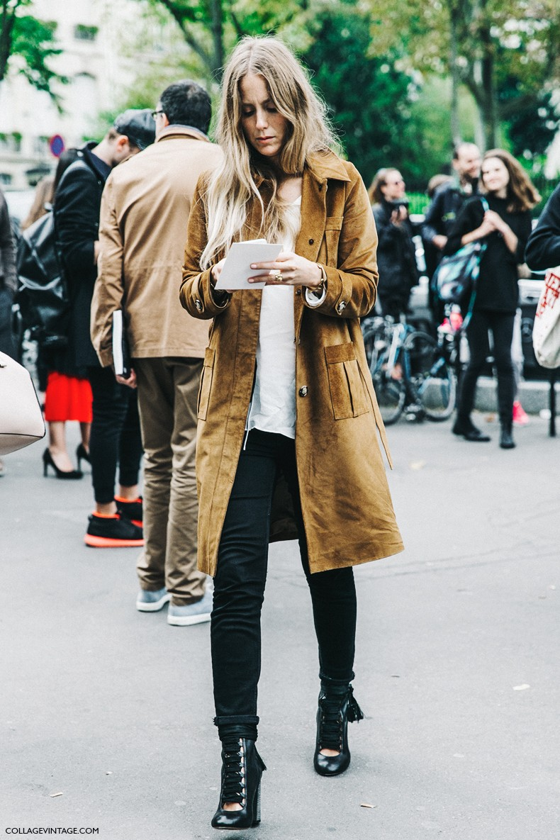 PFW-Paris_Fashion_Week-Spring_Summer_2016-Street_Style-Say_Cheese-Jennifer_Neyt-Suede_Trench_Coat-Chloe-Boots.