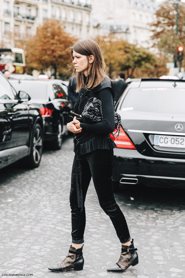 PFW-Paris_Fashion_Week-Spring_Summer_2016-Street_Style-Say_Cheese-Julia_Gall-Black-Louis_Vuitton_Boots-1