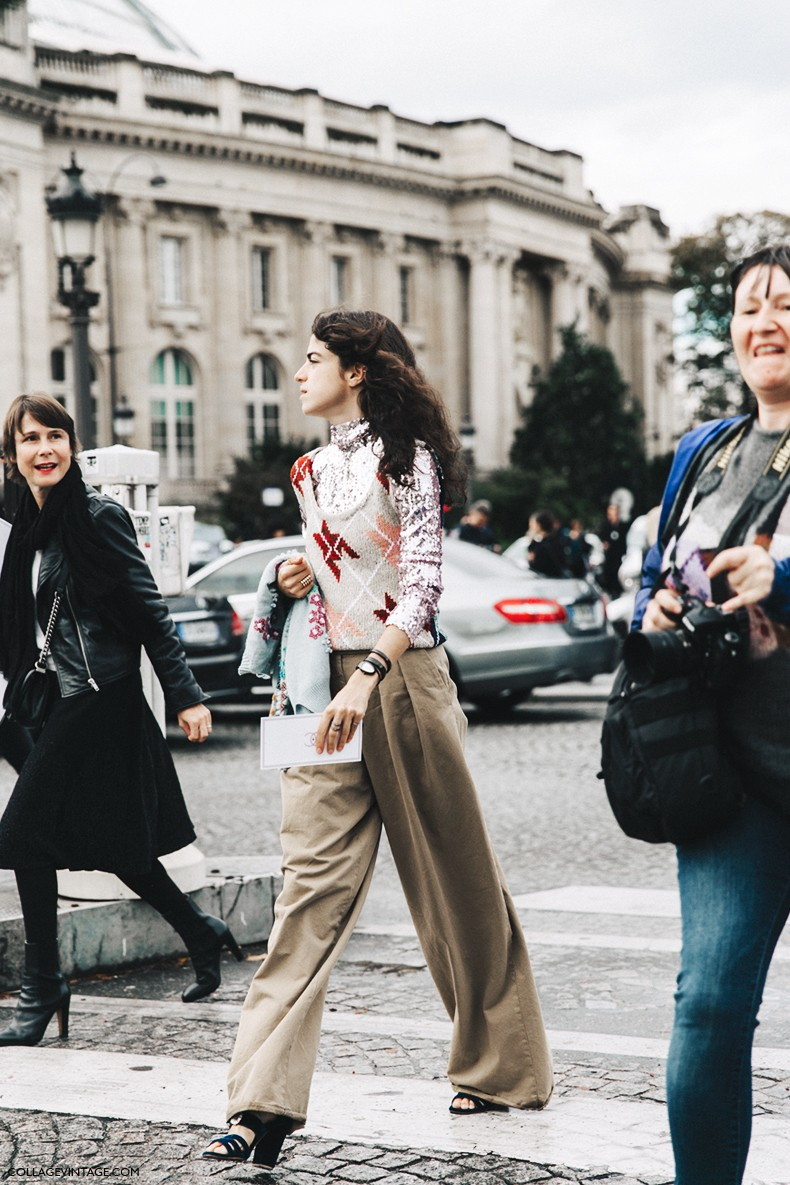 Paris Fashion Week Street Style 4 Collage Vintage