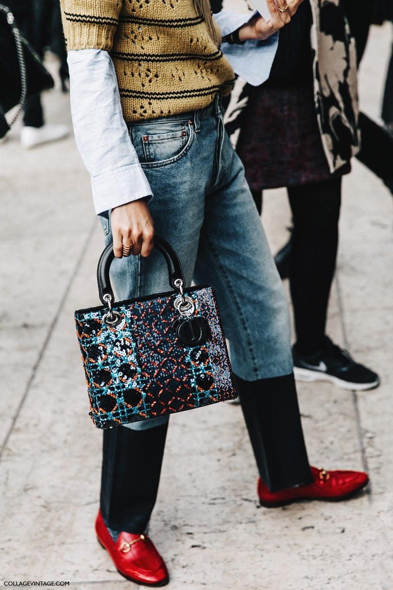 PFW-Paris_Fashion_Week-Spring_Summer_2016-Street_Style-Say_Cheese-Leandra_Medine-Dior_Bag-Levis-Red_Loafers-1