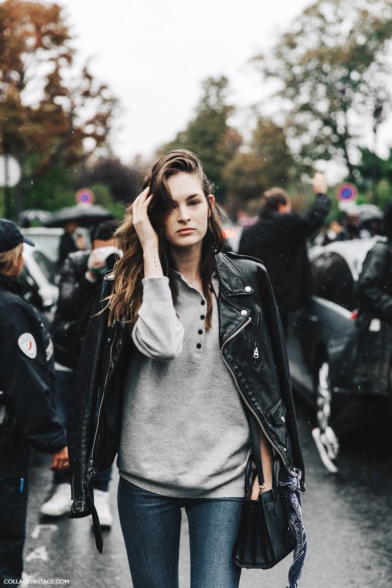 PFW-Paris_Fashion_Week-Spring_Summer_2016-Street_Style-Say_Cheese-Model-Biker-