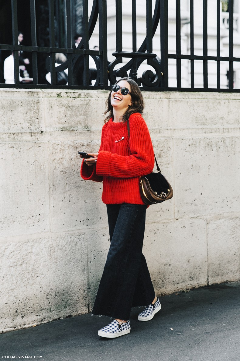 PFW-Paris_Fashion_Week-Spring_Summer_2016-Street_Style-Say_Cheese-Red_Sweater-
