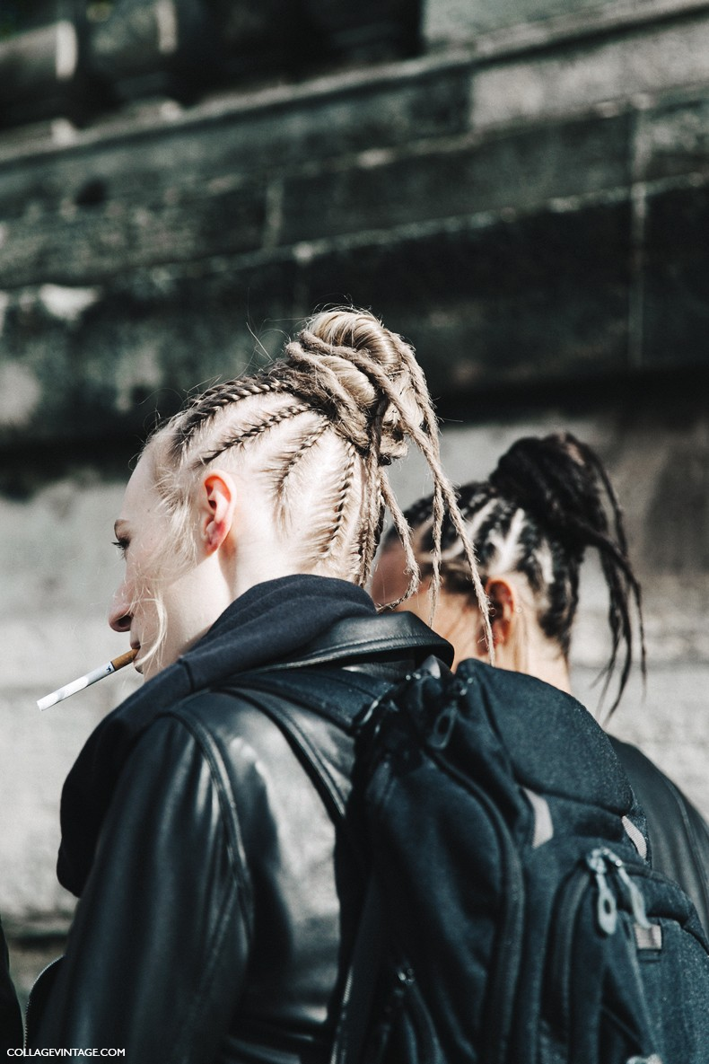 PFW-Paris_Fashion_Week-Spring_Summer_2016-Street_Style-Say_Cheese-Valentino_Spring_Summer_2016-Beauty-Braided_Topknot-1
