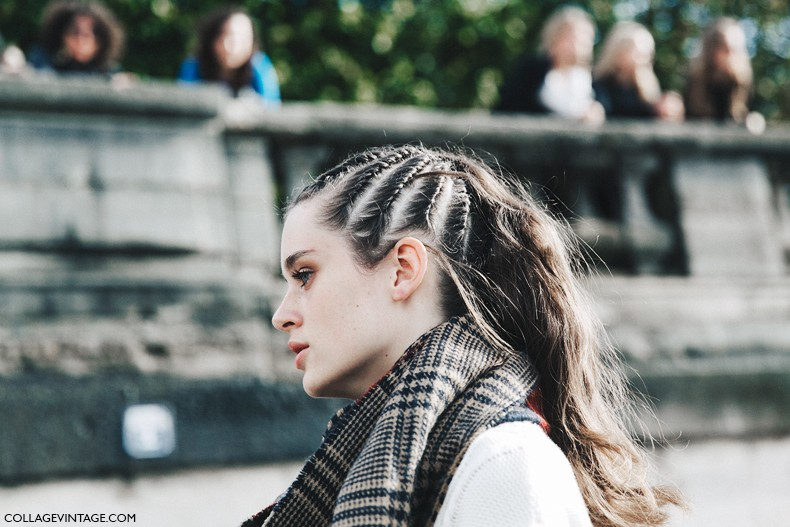 PFW-Paris_Fashion_Week-Spring_Summer_2016-Street_Style-Say_Cheese-Valentino_Spring_Summer_2016-Beauty-Braided_Topknot-2