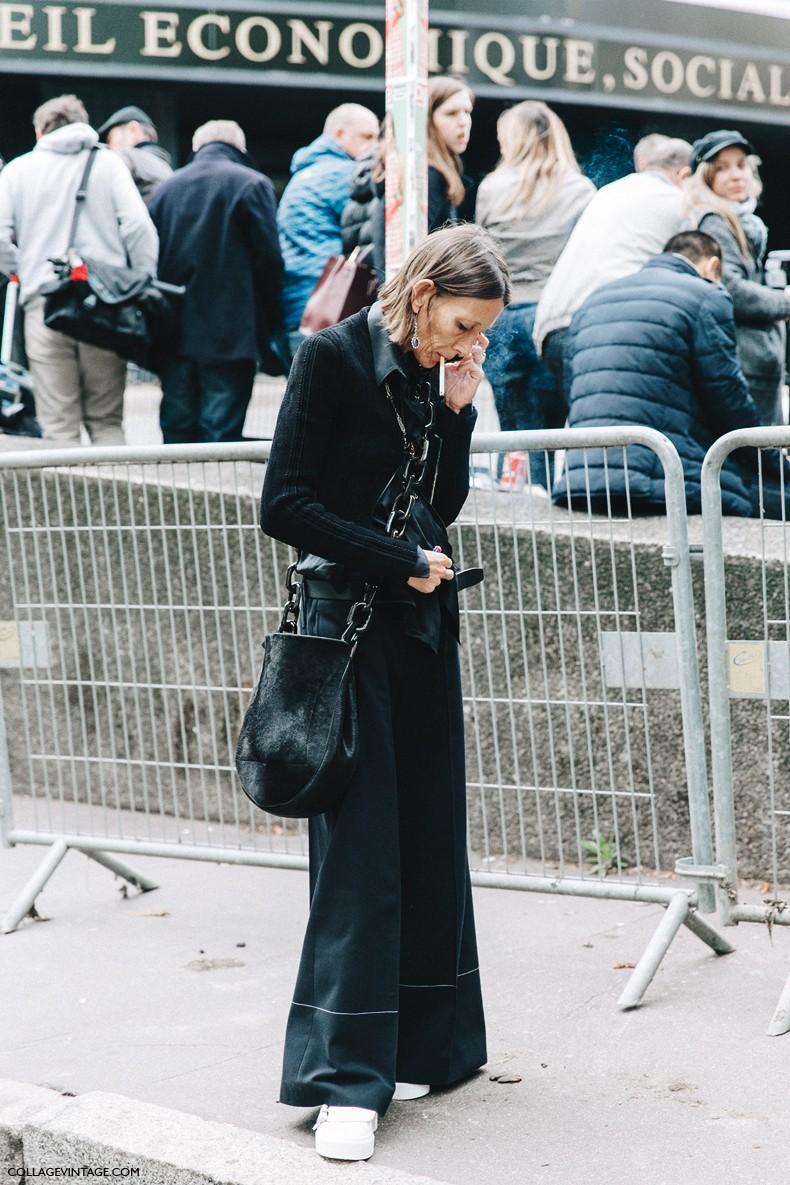 PFW-Paris_Fashion_Week-Spring_Summer_2016-Street_Style-Say_Cheese-Valentino_Spring_Summer_2016-Clavin_Klein_Bag-Black_Total_Look-1