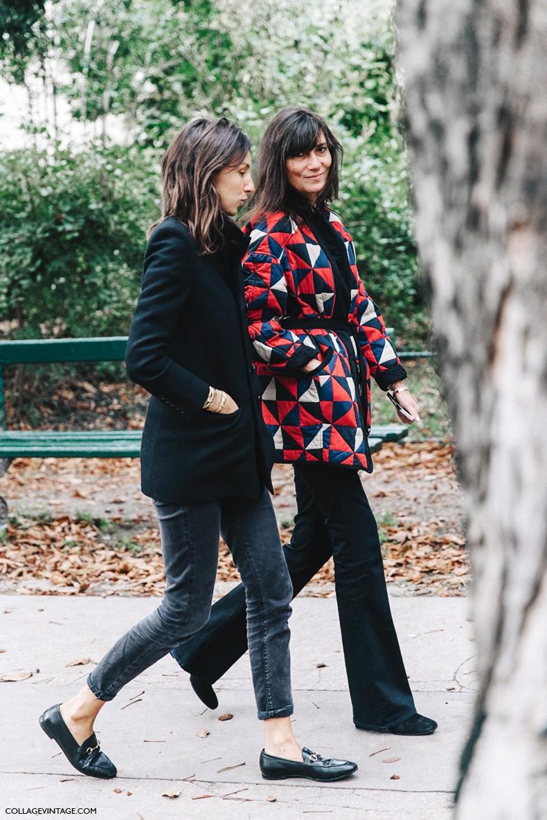 Geraldine Saglio And Emmanuelle Alt Vogue 2016 Naver